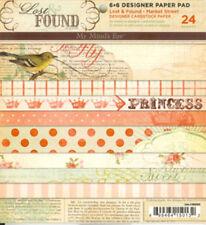 "My Mind's Eye  MAR6X6  ""Market Street""  Designer Paper Pad 24  Sheets NEW"