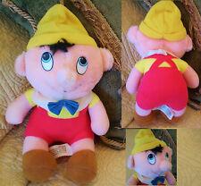 "8"" Vintage PINNOCHIO Plush Stuffed Toy Doll Walt DISNEY Movie Cartoon Animation"