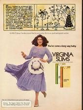 1979 Vintage ad for Virginia Slims Cigarettes/Model in Purple Dress (081013)