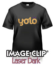 3x A4 Image Clip® Laser Dark Self-Weeding Heat Transfer Paper for Dark Fabrics