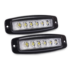 Pair 18W LED Light Bar Flush Mount Flood Pods Driving Fog Lamps for 4X4 Off-road