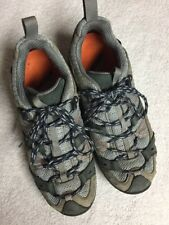 Merrell Women's Gray Leather Fabric Lace Up Athletic Trail Hiking Shoes Size 7 M