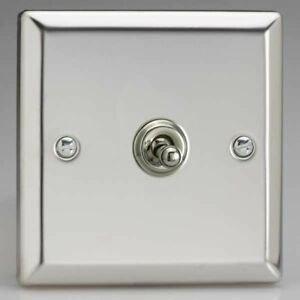 Mirror Chrome Classic Toggle Light Switches 10 Amp 2-Way