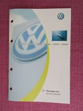 (2000) VOLKSWAGEN SERVICE RECORD BOOK. GOLF BORA BEETLE SHARAN PASSAT . (VWJL 6)