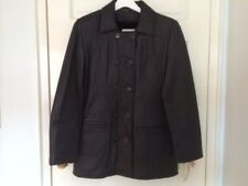 New Women's Genuine Leather Peacoat Black Size M Made in USA