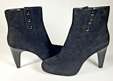 Womans FRANCO SARTO Boots Black Leather Suede Booties Sz 8.5M $159 NWOB (WC)