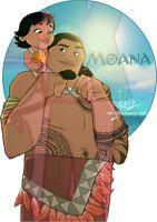 Disney Moana Iron on DIY heat t-shirt transfer Freepost, Pixar, Maui, Kids