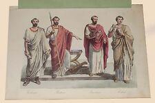 Tribuno Pretore Questore Edile Roma Pagana Usi e Costumi Sanvito Milano 1857