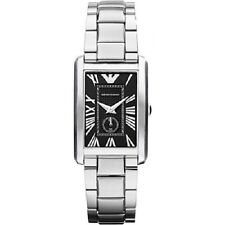 New Authentic Emporio Armani Roman numeral indexes Stainless Steel Watch AR1638
