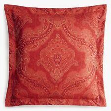 Sferra Miretta Euro Continental Sham Cayenne Red Cotton Sateen Jacquard New