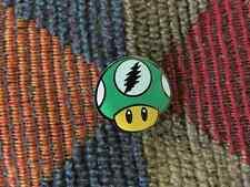 Dead Head Video Gamer Green Magic Mushroom Shrooms Psilocybin Enamel Hat Pins