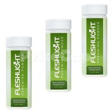 3 x Fleshlight Renewing Powder 118ml - Cleaner & Renewing for Sex Toys Sleeves