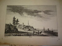 Johann Georg Hertel (1700?-1775) GRAVURE XVIII PAYSAGE MARINE PORT OZANNE 1750