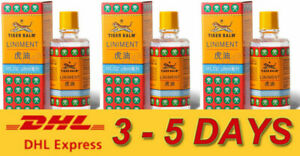 3 x Tiger Balm Liniment Oil Herbal Pain Relief Original Massage Arthritis 28ml