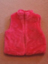 Gymboree Girls Pink Faux Fur Vest Loveable Giraffe 5/6 NWT
