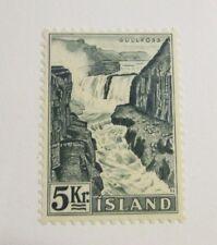 Iceland Scott #837 Θ used, nature, waterfalls, very fine + 102 card, superfleas