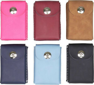 Cigarette Case King Package/Leather Look/Contrasting Stitching/6 Colours