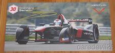 2015 Stephane Sarrazin signed Venturi Formula E postcard
