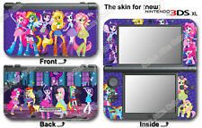 My Little Pony Equestria Girls Skin Sticker Cover Decal for NEW Nintendo 3DS XL