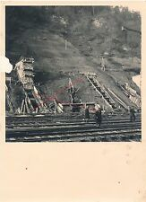 Nr.9905 Foto Keine AK HIEFLAU Baustelle Erzbachbrücke Eisenerz 1941 Steiermark