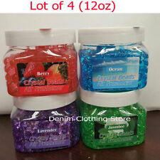 Lot of 4 Crystal Beads Air Freshener Instant Odor Eliminator Home Car Office