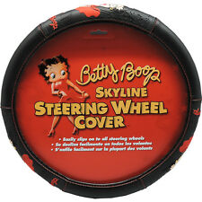 1PC Universal Fit Black Betty Boop Skyline Steering Wheel Cover 006709R01