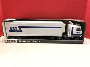 Ort Trucking Inc. Truck and Trailer - Ertl Toys - Diecast - 3149