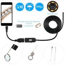 5M IP67 Camara endoscopio Android movil USB Baroscopio minicamara inspeccion