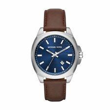 Michael Kors Bryson Masculino MK8631 Azul Couro Quartz Relógio De Moda