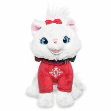 "Disney Store Aristocats Marie Cat Holiday Plush 6"" Stuffed Animal Toy Doll NEW"