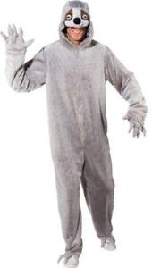 Faultier Faul Tier Kostüm Overall Kleid Damen Herren Plüsch Faultierkostüm Zoo
