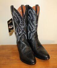 Dan Post Mens Raleigh Black Teju Lizard Exotic Western Cowboy Boots Size 9 D