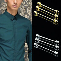 KQ_ FP- DI- FP- FT- Men's Copper Round Head Ball Tie Collar Bar Pin Brooch Screw