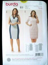 NEW BURDA SEWING PATTERN 6676 WOMENS PLUS SIZE DRESS Sz. 18-20-22-24-26-28