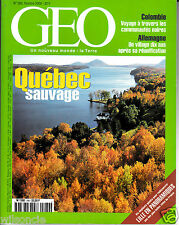 GEO Québec sauvage (No 260 October 2000)