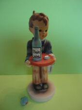 Hummel Goebel Waiter  with Tray and Wine Bottle