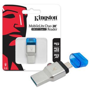 Kingston MobileLite Duo 3C micro SD SDHC SDXC Card USB 3.0 3.1 Reader OTG Type-C
