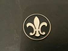 New Black & White FLEUR DE LIS LYS Logo Flat Coin Golf Ball MARKER New