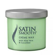 SATIN SMOOTH CREME WAX  WITH ALOE VERA CUCUMBER SENSITIVE SKIN 425G