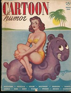 CARTOON HUMOR Spring 1950 Spicy Girlie Gag Magazine EARLE K  BERGEY GGA Cover vv
