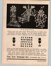 1950 PAPER AD The Toy Tinkers Inc Tinker Tooys Deluxe Sets Wood Wooden
