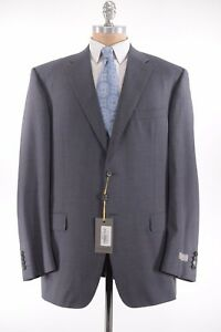 Canali NWT Suit Size 48L In ~Solid Gray Wool 2 Button Flat Front Current $1,895