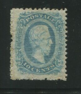 1863 Confederate States of America Postage Stamp #11e Mint F/VF No Gum