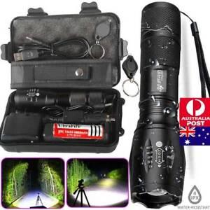 AU 150000lm Genuine Ultrafire Zoom XML T6 LED Tactical Flashlight Military Torch