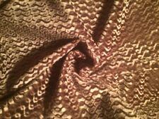 DESIGNERS GUILD Figured Velvet Brown Geometric Remnant New