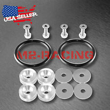 Silver JDM Quick Release Fasteners For Car Bumpers Trunk Fender Hatch Lids Kit