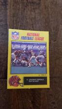 1988 MONTY GUM NFL STICKER CARD ENGLAND WALTER PAYTON CHICAGO BEARS BENGALS # 9