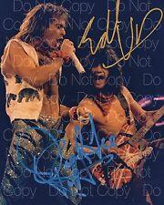 Eddie Van Halen David Lee Roth signed 8X10 photo picture poster autograph RP