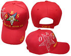Mason OES Order of the Eastern Star Red 100% Acrylic Shadow Embroidered Hat Cap