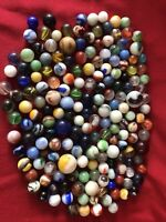LOT OF  2 Pounds Vintage MARBLES SHOOTERS, #12